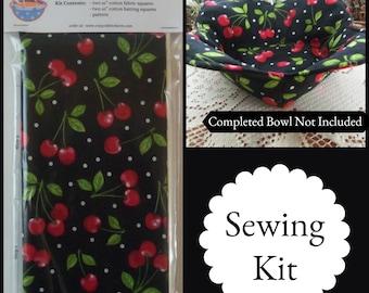 Kit to Sew Hot Bowl Cozy Holder Petal Style wPattern *Black /& White Dot*