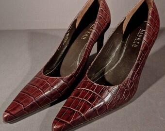 b9d6b0264699 Women s PUMPS Lauren RALPH LAUREN Snakeskin brown high heel pump Size 8.5 B  Medium Pointed Toe Pumps