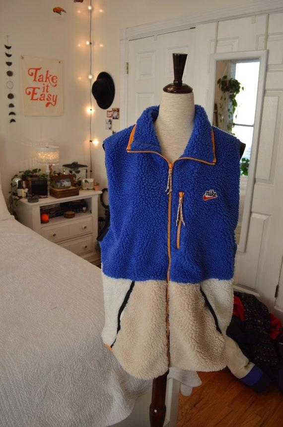 Nike Color Block Sherpa Vest (Blue/White)