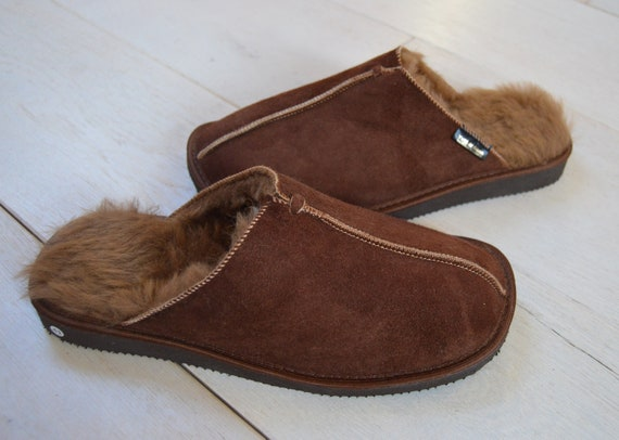 Hand Crafted Luxury Men/'s Women/'s Sheepskin Boot Slippers 100/% Real Fur Lined