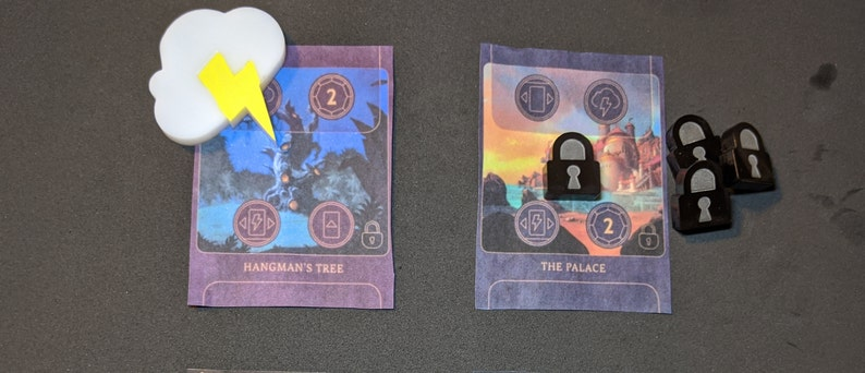 1 Fate Token and 5 Locks for Villainous (3D Printed)