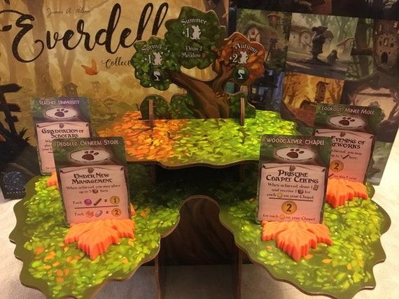 Beautiful Translucent Green Resin Everdell Special Event Leaf Card Holders set