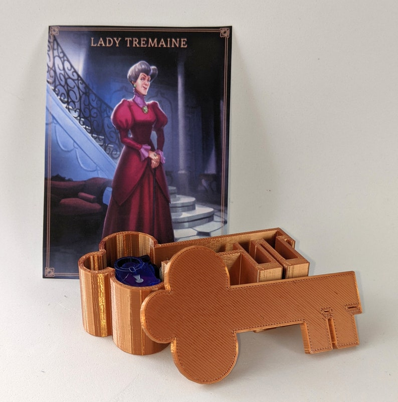 Lady Tremaine's Upgrade for Villainous (5 tokens + container)