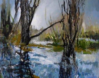 Basingstoke Canal Painting