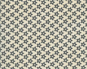 "Quilting Fabric - Half Yard - Windham Fabrics - Farm to Table Line - Cream with stars - 18 x 44"""
