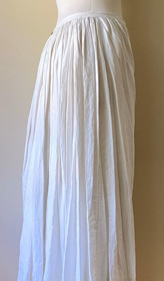 Antique Edwardian Cotton Bustle Skirt Slip
