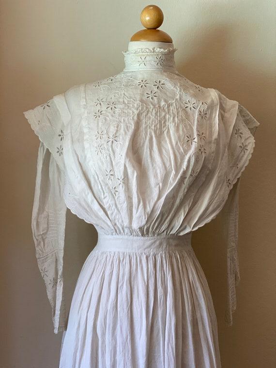 Antique Edwardian Cotton Summertime Day Dress Vin… - image 8