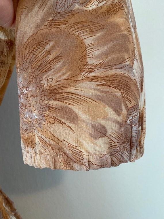 50s Shirtwaist Housewife Dress Matching Belt Judy… - image 9