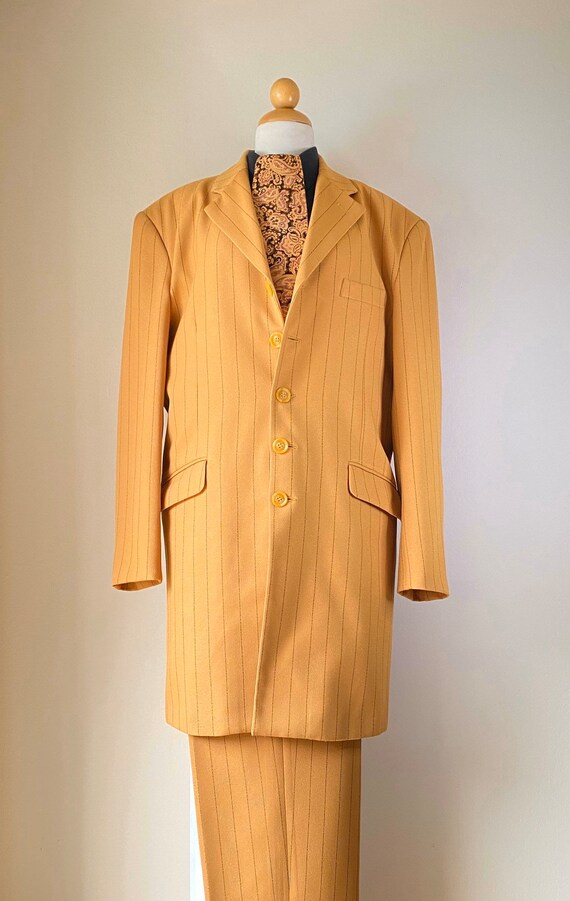 Vintage Zoot Suit Shirt and Tie Pinstriped Suit 19