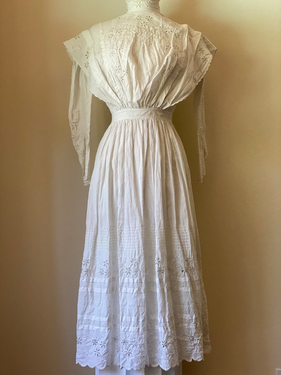 Antique Edwardian Cotton Summertime Day Dress Vin… - image 3