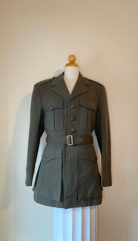 WWII 40s US Marines Dress Jacket Belt 41R
