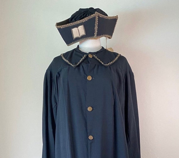 Antique Clerical Priests Robe and Hat
