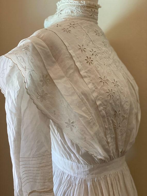 Antique Edwardian Cotton Summertime Day Dress Vin… - image 5
