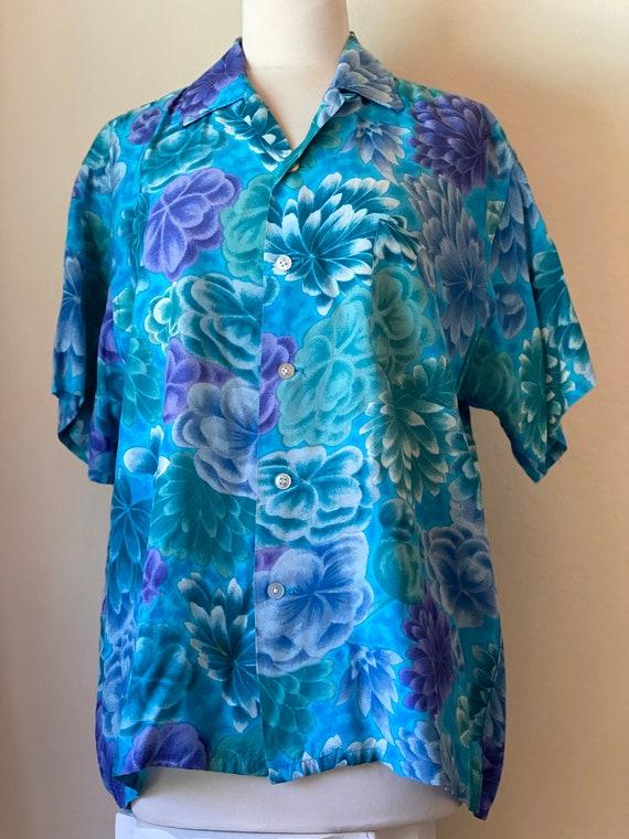 1950s Vintage Mona Loa Aloha Leisure Shirt Rayon