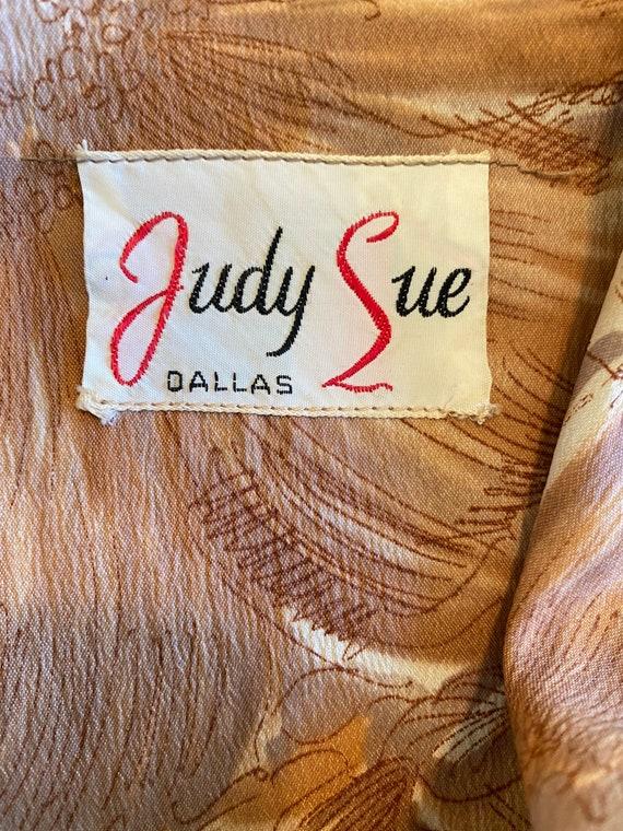 50s Shirtwaist Housewife Dress Matching Belt Judy… - image 8