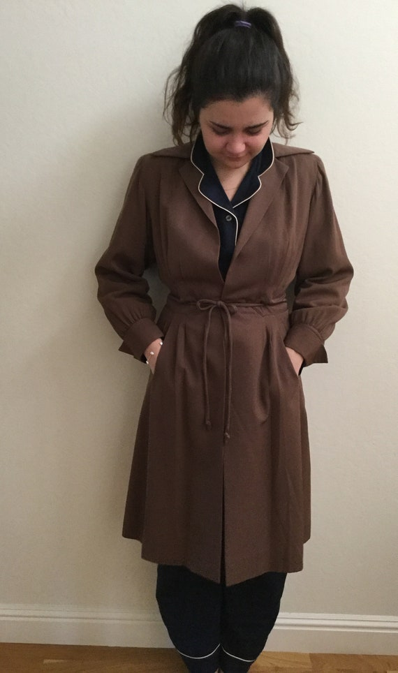 Vintage 1930's Coat  Brenda Kent Wool Gabardine