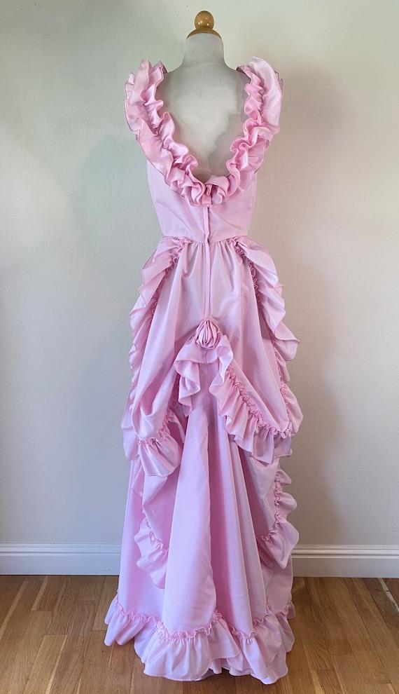80s Prom Formal Princess WTrain/Bustle Style Dress