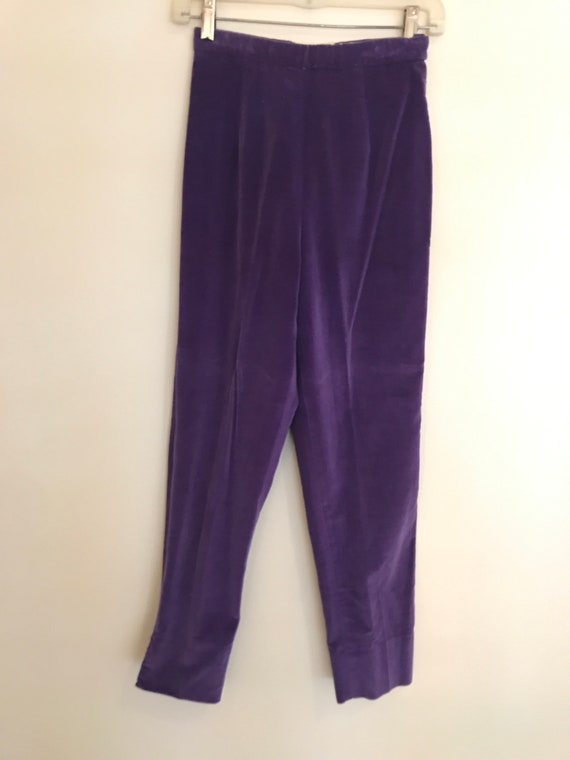 "Vintage 1960's Highwaisted Purple ""Pantino"" Velvet"