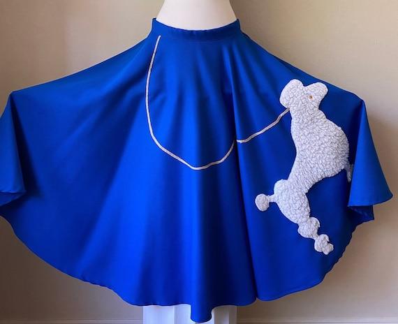 Vintage 50's Style Circle Poodle Skirt SockHop wit