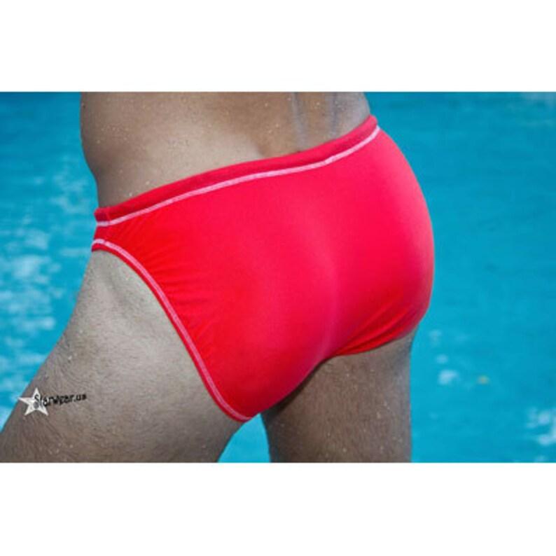 Mullock bathing suits starwear.us, Coral American made Full cut swim brief