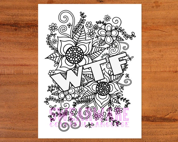 Fruit Swear Word Coloring Pages Collection/ 4 Adult Coloring   Etsy   453x570