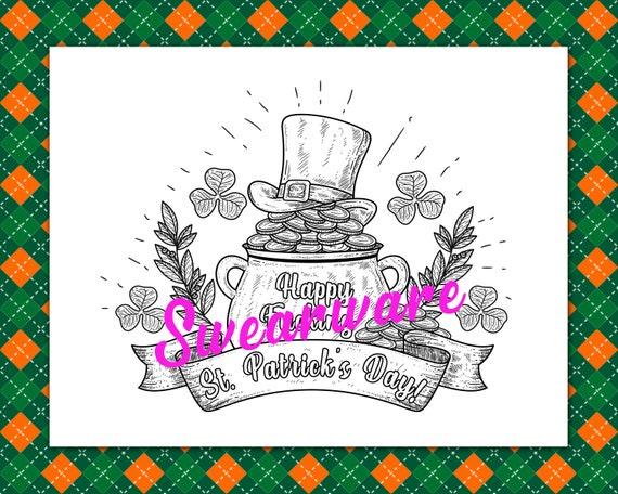 Happy Fucking St Patrick S Day Swear Word Coloring Page Etsy
