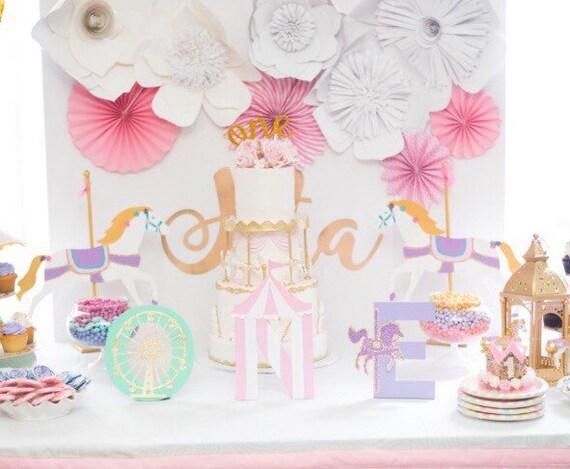 Carousel Horse Centerpiece / Party / Child Bedroom Decor