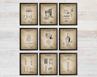 Laundry Room Patent Art Prints. Laundry Room Sign. Laundry Room Art. Patent Prints. Laundry Room Decor. Laundry Room Prints. 204
