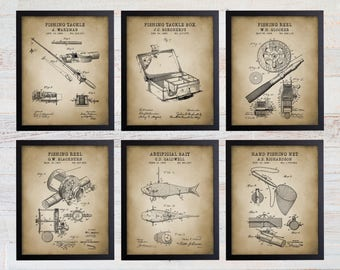 Fly Fishing Patent Vintage Retro Reproduction Gift 8x12 Metal Sign 108120067107