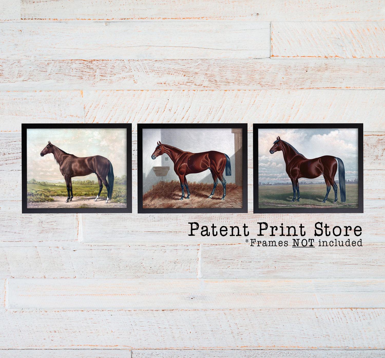 Vintage Horse Print Set. Horse Art. Horse Print. Horse Decor. Horse ...