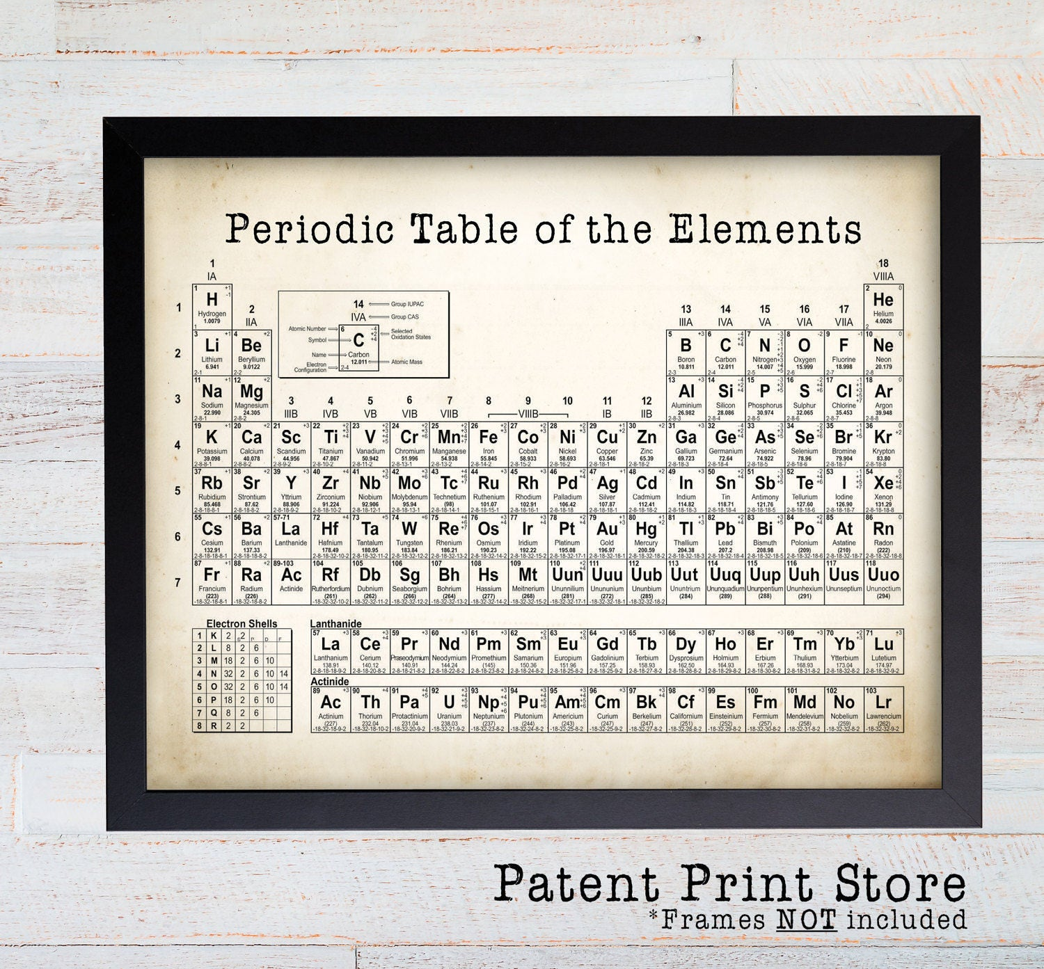 Periodic table of elements science wall art science poster periodic table of elements science wall art science poster chemistry poster science art lab science laboratory organic chemistry 34 urtaz Choice Image