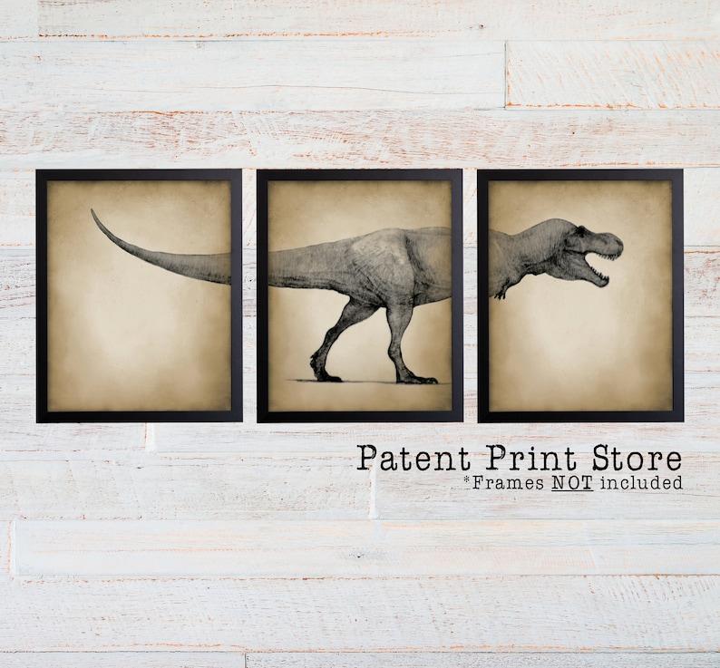 Dinosaur Art Prints Tyrannosaurus Rex Art Prints Dinosaur Bedroom Art Dinosaur Decor Paleontology Gift Dinosaur Nursery Art Prints