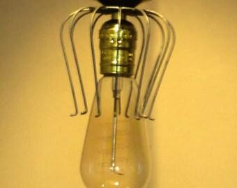 Suspension cage lamp vintage industrial