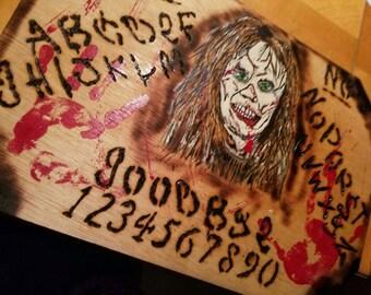 Satanic demonic Ouija's talking board with skull | Etsy