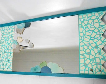 "Mirror mosaic ""Flying teapot""100 X 50 cm"