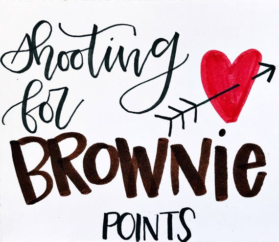 It's just a photo of Shooting for Brownie Points Free Printable for sweet rewards personal progress
