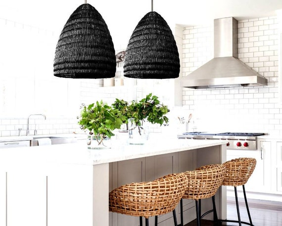 Georgio Design Bank.San Georgio Rattan Pendant Light 2020 Interior Design Trends Etsy