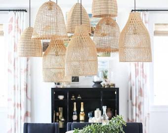 Staggered Southampton Rattan Pendant Light Drop Pendants Interior Design Trends