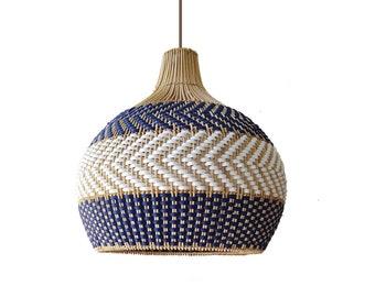 Serena Blue Rattan Pendant Light Drop Pendants Interior Design Trends