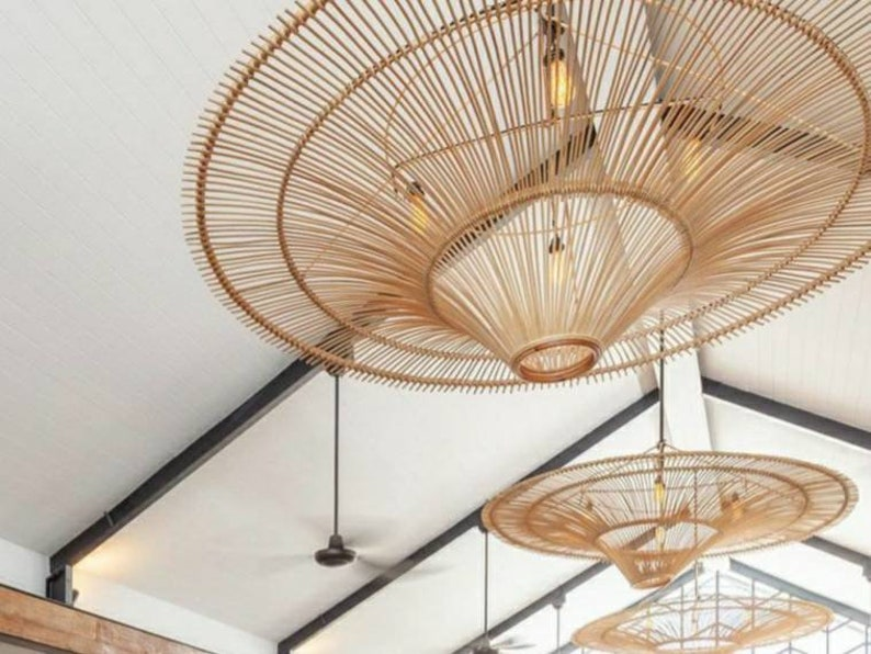 Nantucket Rattan Pendant Oversized Interior Design Trends 2021 image 0