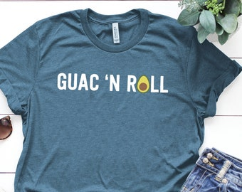 27f27a55 Avocado Shirt ∙ Vegan Shirt ∙ Guac N Roll Shirt ∙ Avocado ∙ Avocado T Shirt  ∙Avocado Tshirt ∙ Gift for Her ∙ Softstyle Unisex Tee