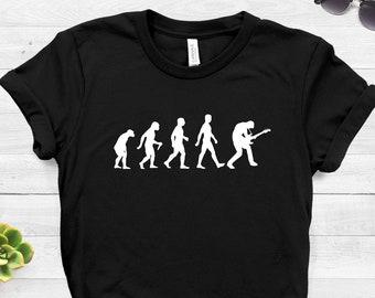 a41c3d93 Guitar Player Evolution T Shirt ∙ Guitarist T-Shirt Gift ∙ Gifts For Him ∙  Music Shirt ∙ Guitar Player Gift ∙ Guitar Gifts ∙ Electric Guitar