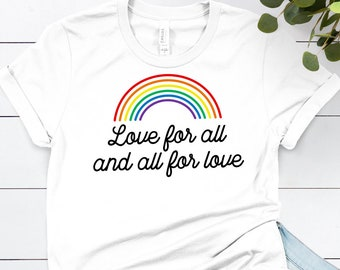 f8ea1662e978 Gay Rainbow Shirt ∙ Gay AF Tshirt ∙ LGBT Shirt ∙ LGBTQ Lesbian Shirt ∙ Cute Gay  Pride Shirt ∙ Love For All Shirt ∙ Softstyle Unisex Shirt