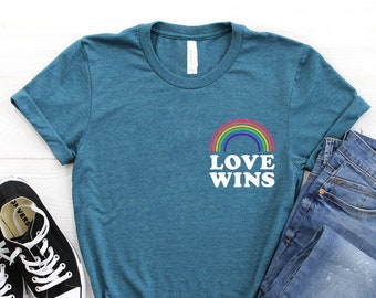 35187d18 Pride Shirt ∙ Gay Pride T-Shirt ∙ Gay Rainbow Shirt ∙ LGBT Shirt ∙ Lesbian  Shirt ∙ Love Wins Shirts ∙ Queer Shirt ∙ Softstyle Unisex Tee