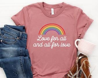 b1ba16522 Pride Shirt ∙ Gay Rainbow Shirt ∙ Gay AF Tshirt ∙ LGBT Shirt ∙ Lesbian Shirt  ∙ Gay Pride Shirt ∙ Love For All Shirt ∙ Softstyle Unisex Shirt
