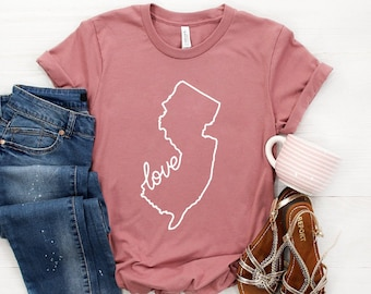 59ed6a945 New Jersey Shirt ∙ New Jersey Gift ∙ New Jersey Home ∙ Love New Jersey ∙ NJ  Pride T-Shirt ∙ Jersey Girl ∙ Softstyle Unisex Tee