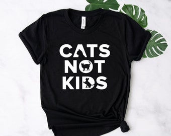 1c2638fb0 Funny Cat Shirt ∙ Cats Not Kids ∙ Crazy Cat Lady - Single Friend Gift ∙ Cat  Lover Gift ∙ Meow Shirt ∙ Cat T Shirt ∙ Softstyle Unisex Shirt