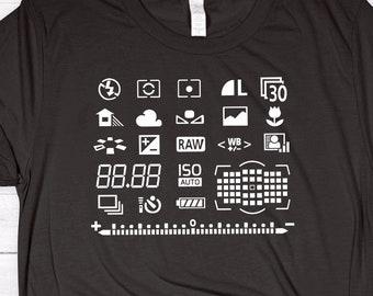 Camera Display Panel Shirt ∙ Camera Art Shirt ∙ Camera Love Shirt ∙ Photography Shirt ∙ DSLR Photographer ∙ Ladies Unisex Softstyle Shirt