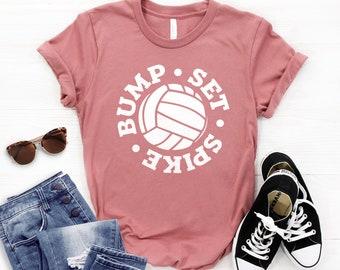 6122e49c Volleyball Shirt ∙ Bump Set Spike ∙ Volleyball T shirt ∙ Funny Volleyball  Shirt ∙ Volleyball Mom Shirt ∙ Softstyle Unisex Shirt