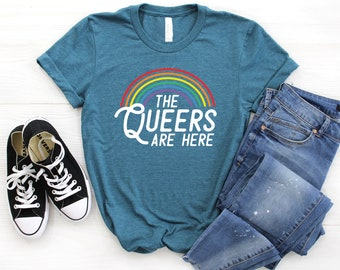 afac0ec6 The Queers Are Here Shirt ∙ Pride Shirts ∙ Bisexual Shirt ∙ Gay Pride ∙  Lesbian Shirt ∙ Asexual ∙ Love Equality ∙ Softstyle Unisex Shirt